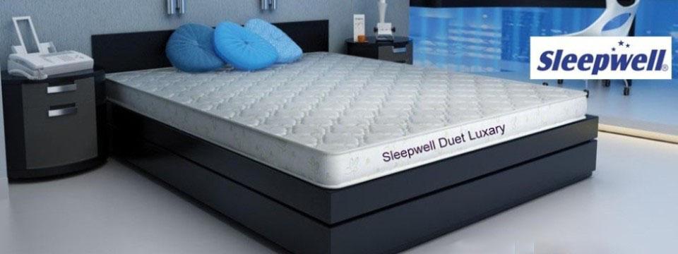 sleepwell memory foam mattress duet luxury u2013